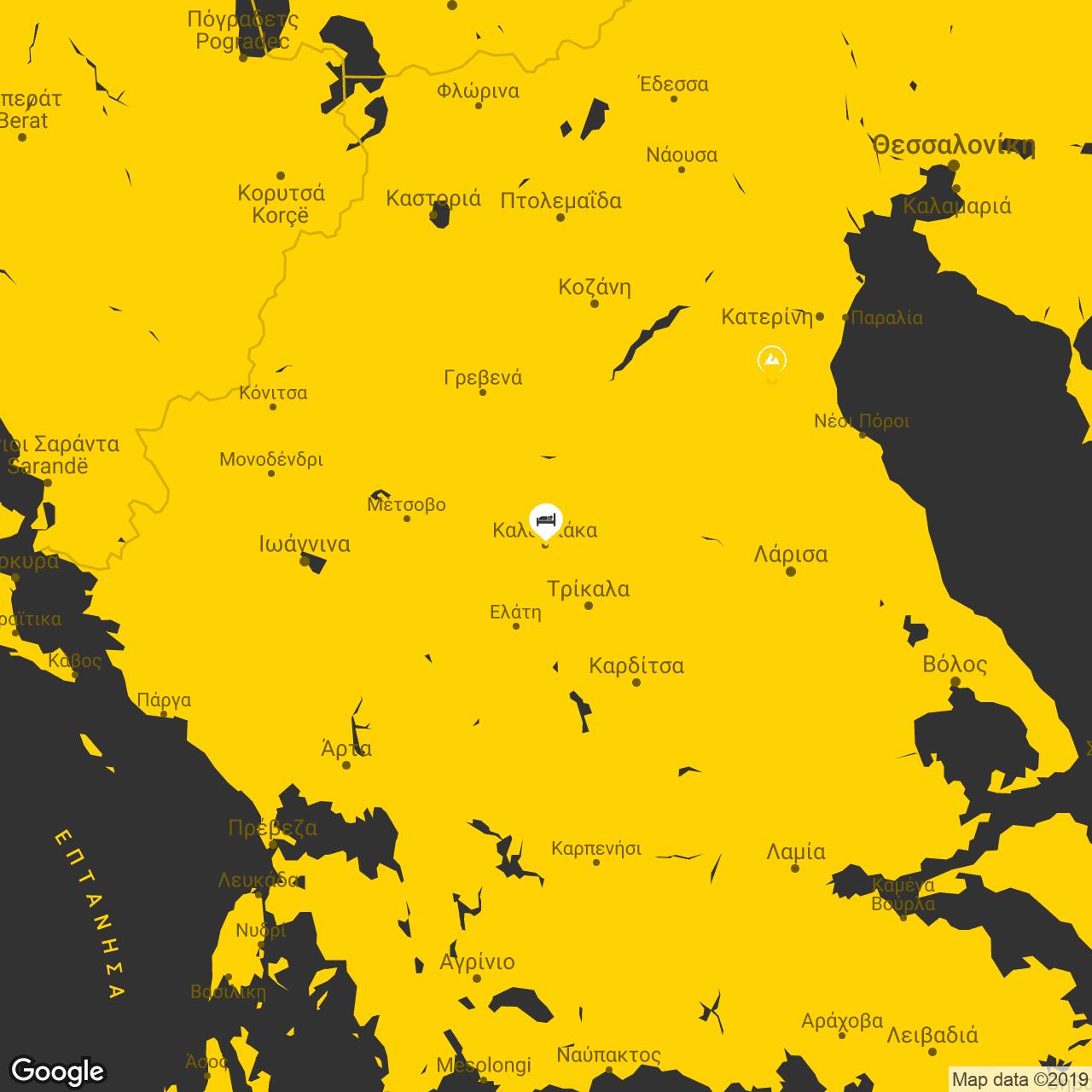 meteora map