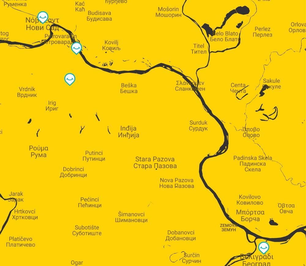 map belgrade