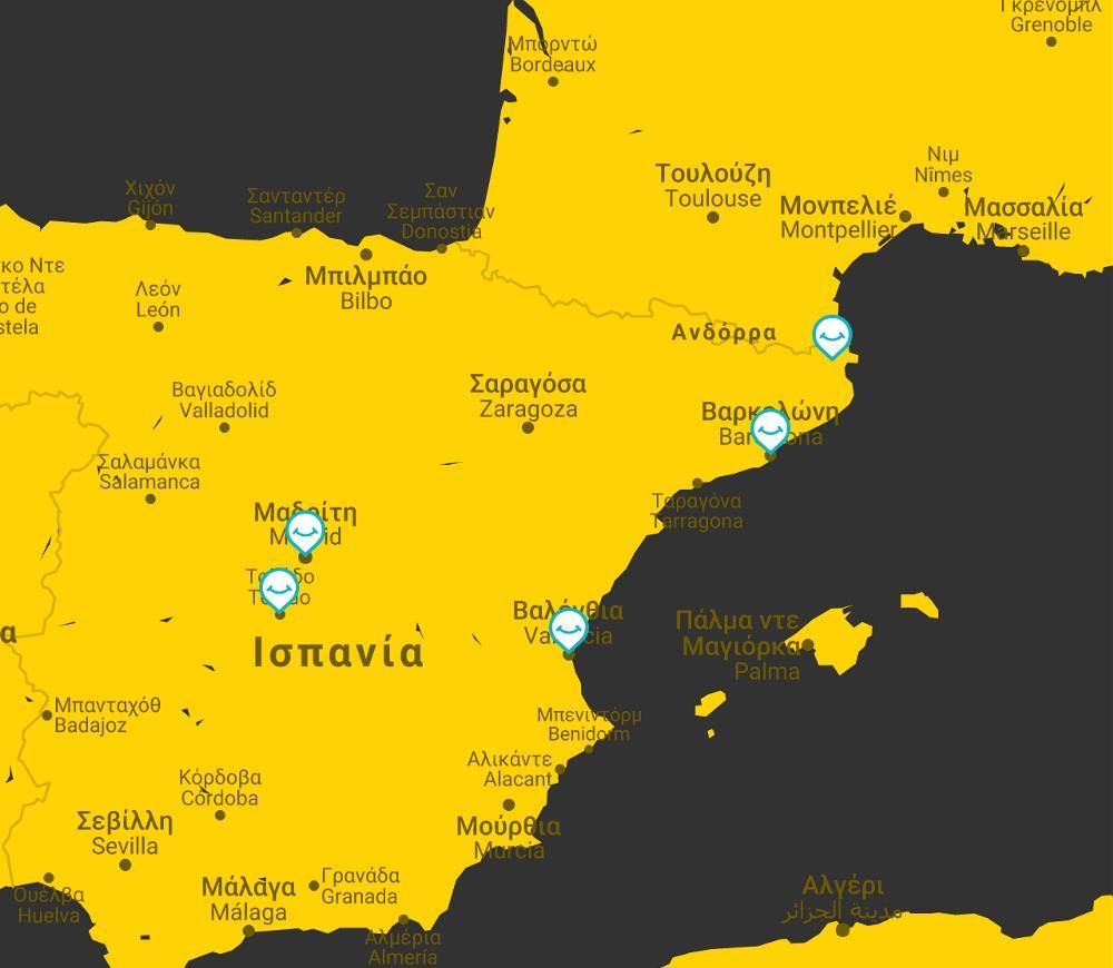 ispania tour map