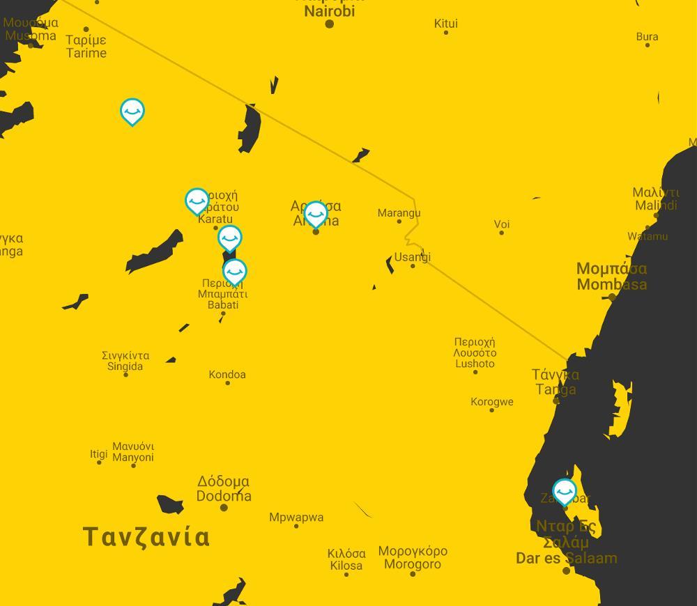 map tanzania zanzibar