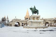Hungary-Budapest-Stephen I monument_176460476
